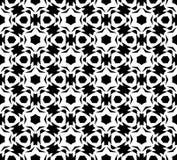 Черно-белый вектор картины повторения и безшовное фоновое изображение иллюстрация вектора