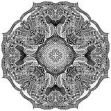 Черно-белый вектор мандалы иллюстрация вектора