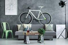 Черно-белый велосипед стоковые изображения