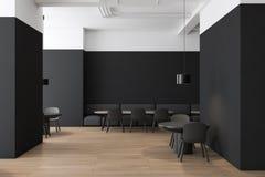 Черно-белый интерьер кафа с софой иллюстрация штока