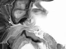 Черно-белый конспект покрасил предпосылку, обои, текстуру искусство самомоднейшее Стоковые Изображения RF