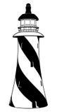Черно-белый маяк Стоковое фото RF