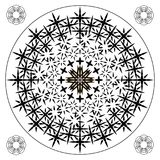 Черно-белый рецидивируя spiky опасные угловые крестовины и линии картина Стоковое фото RF