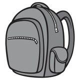 Черно-белый рюкзак Бесплатная Иллюстрация