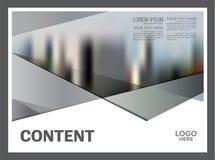 Черно-белый шаблон дизайна плана брошюры Предпосылка представления крышки листовки рогульки годового отчета современная иллюстрация вектора