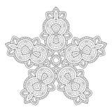Черно-белый элемент дизайна контура для книжка-раскраски Стоковые Фото