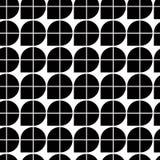 Черно-белая абстрактная геометрическая безшовная картина, контраст il Стоковое Фото