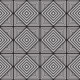 Черно-белая абстрактная геометрическая картина иллюзион оптически Стоковая Фотография RF