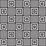 Черно-белая абстрактная геометрическая картина иллюзион оптически Стоковое Изображение