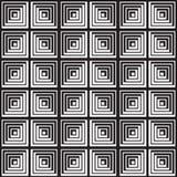 Черно-белая абстрактная геометрическая картина иллюзион оптически Стоковая Фотография