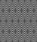 Черно-белая абстрактная геометрическая картина Стоковое Изображение