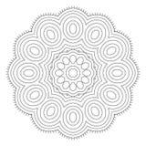 Черно-белая абстрактная картина, мандала Стоковые Фотографии RF