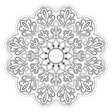 Черно-белая абстрактная картина, мандала Стоковая Фотография