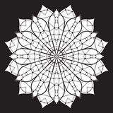 Черно-белая абстрактная картина, мандала Стоковое фото RF