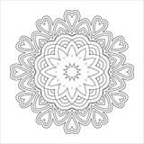 Черно-белая абстрактная картина, мандала Стоковые Изображения RF