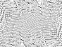 Черно-белая абстрактная картина с завихряясь эффектом искажения иллюстрация штока