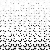 Черно-белая абстрактная предпосылка с флористическими элементами Стоковое Фото