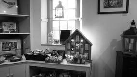 Черно-белая античная комната Стоковая Фотография RF
