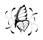Черно-белая бабочка Стоковые Фото