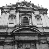 Черно-белая базилика в Риме Стоковая Фотография RF