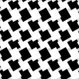 Черно-белая безшовная геометрическая картина Repeatable текстура иллюстрация вектора