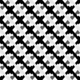 Черно-белая безшовная геометрическая картина Repeatable текстура бесплатная иллюстрация