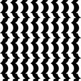 Черно-белая безшовная геометрическая картина Repeatable текстура иллюстрация штока