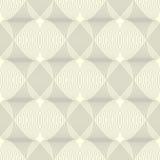 Черно-белая безшовная картина сделанная линий Стоковое Изображение RF