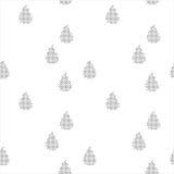 Черно-белая безшовная картина с дождевыми каплями Стоковая Фотография RF