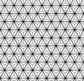 Черно-белая безшовная картина с треугольниками Стоковое Изображение