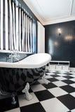 Черно-белая ванна Стоковая Фотография