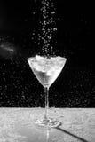 Черно-белая вода падает и брызгает Стоковые Фотографии RF