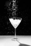 Черно-белая вода падает и брызгает Стоковая Фотография RF