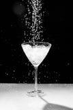 Черно-белая вода падает и брызгает Стоковое Фото