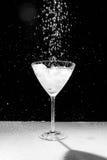 Черно-белая вода падает и брызгает Стоковые Фото