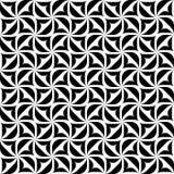 Черно-белая геометрическая безшовная картина, абстрактная предпосылка Стоковая Фотография