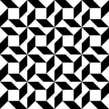 Черно-белая геометрическая безшовная картина, абстрактная предпосылка бесплатная иллюстрация