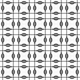 Черно-белая геометрическая безшовная картина, абстрактная предпосылка иллюстрация штока