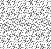 Черно-белая геометрическая безшовная картина с линией волны, abstr иллюстрация штока