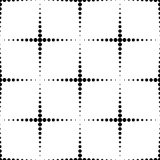 Черно-белая геометрическая безшовная картина с кругом, абстрактным иллюстрация штока