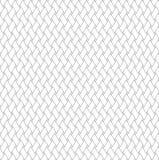 Черно-белая геометрическая безшовная картина с стилем weave Стоковое Изображение