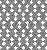 Черно-белая геометрическая безшовная картина с стилем weave Стоковая Фотография