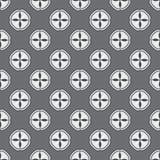 Черно-белая геометрическая безшовная картина Стоковое Изображение RF