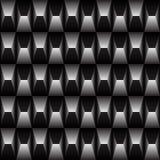 Черно-белая геометрическая картина безшовная Стоковое Изображение RF
