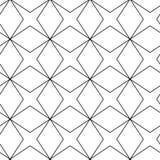 Черно-белая геометрическая картина Стоковые Изображения