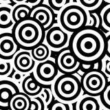 Черно-белая гипнотическая безшовная картина Стоковое Изображение RF