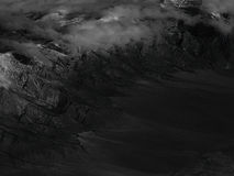Черно-белая горная цепь Стоковые Фото