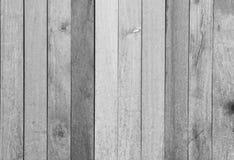 Черно-белая деревянная предпосылка планки Стоковое фото RF
