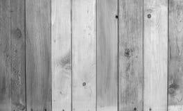 Черно-белая деревянная предпосылка текстуры стены планки Стоковые Фотографии RF