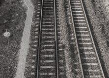 Черно-белая железная дорога в Лидсе Beeston октябре 2016, Великобритании стоковая фотография rf